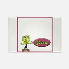 """Diva"" Rectangle Magnet"