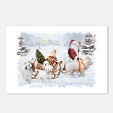 Great Pyrenees and Santa Postcards (Package of 8)