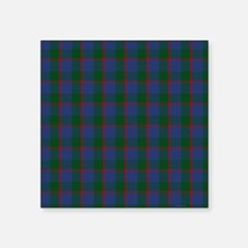 "Ferguson Celtic Tartan Plai Square Sticker 3"" x 3"""