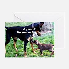 Doberman Puppy cover shot Greeting Card