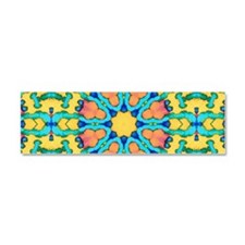 Glory  Mandala Pattern Car Magnet 10 x 3