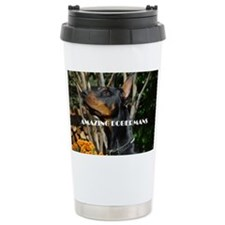 Doberman Cover image 2 Travel Coffee Mug