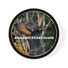Doberman Cover image 2 Wall Clock