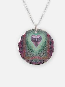 PEACE  LOVE MANDALA Necklace