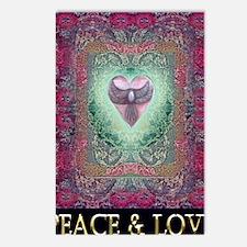 PEACE  LOVE MANDALA Postcards (Package of 8)