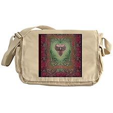 PEACE  LOVE MANDALA Messenger Bag
