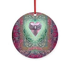 PEACE  LOVE MANDALA Round Ornament