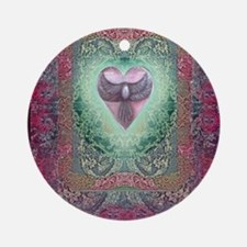 PEACE  LOVE MANDALA Round Ornament