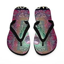 PEACE  LOVE MANDALA Flip Flops