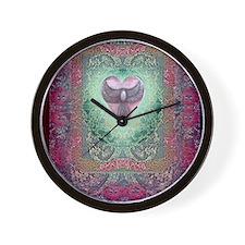 PEACE  LOVE MANDALA Wall Clock