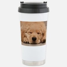 Golden Retriever Puppy Stainless Steel Travel Mug