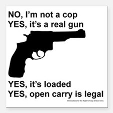 """Yes, its legal Square Car Magnet 3"""" x 3"""""""