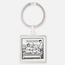 Yes? Can I Help You? Square Keychain
