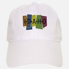 Colorful Idaho Baseball Baseball Cap