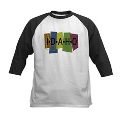 Colorful Idaho Kids Baseball Jersey