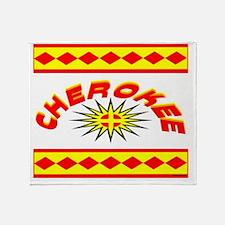 CHEROKEE INDIAN Throw Blanket
