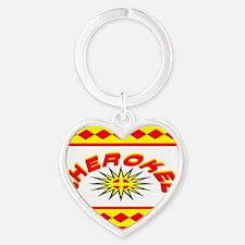 CHEROKEE INDIAN Heart Keychain
