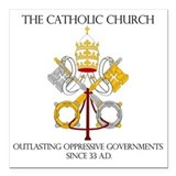 Catholic church Square Car Magnets
