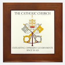 The Catholic Church Framed Tile