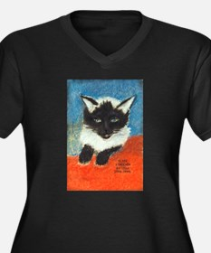 Siamese Kitten by Elsie Women's Plus Size V-Neck D