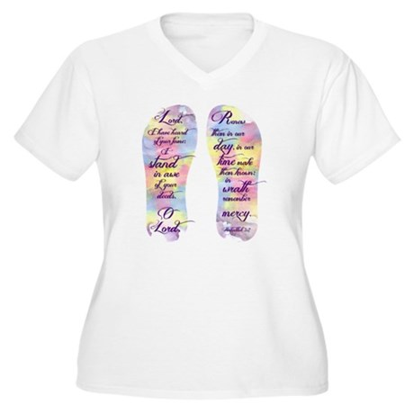 I stand in awe... Women's Plus Size V-Neck T-Shirt