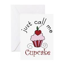 Just Call Me  Cupcake Greeting Card