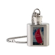 Christmas Spinnaker Flask Necklace