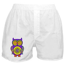 Purple Psychedelic Owl Boxer Shorts