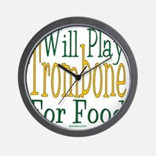 Will Play Trombone Wall Clock