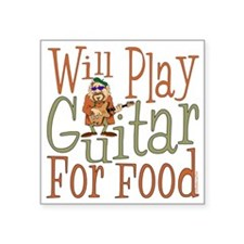 """(CP) Will Play Guitar dk Square Sticker 3"""" x 3"""""""