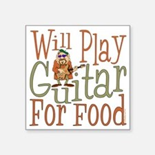 "(CP) Will Play Guitar dk Square Sticker 3"" x 3"""