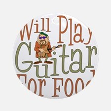 (CP) Will Play Guitar dk Round Ornament