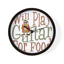 (CP) Will Play Guitar dk Wall Clock