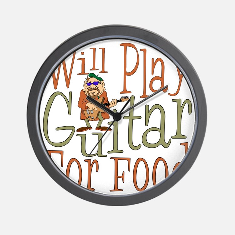(CP) Will Play Guitar dk Wall Clock