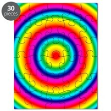 Rainbow Circles Pattern Puzzle