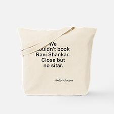 Ravi booking Tote Bag