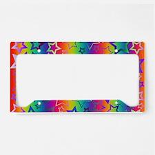 Rainbow Stars Pattern License Plate Holder
