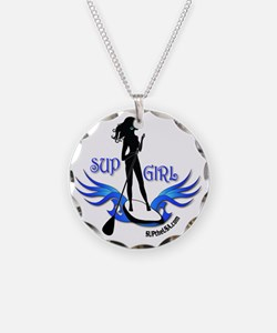 SUP GIrl Paddleboarder Necklace