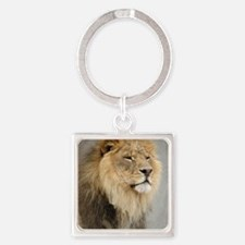 Lion Lovers Square Keychain