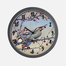 Bohemian waxwing wallclock Wall Clock