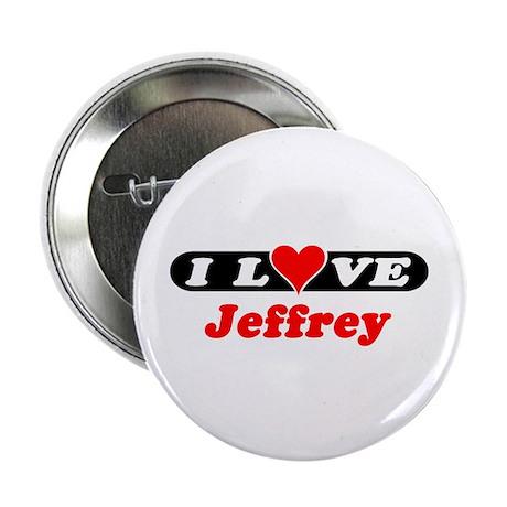 "I Love Jeffrey 2.25"" Button (100 pack)"