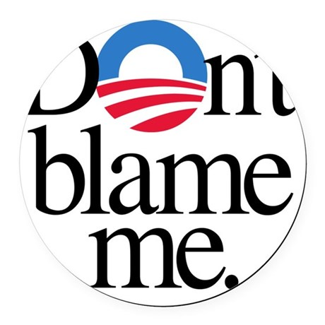 Dont blame me Round Car Magnet