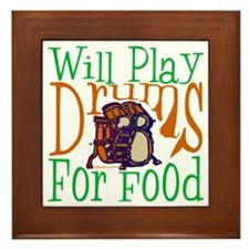 Will Play Drums Framed Tile