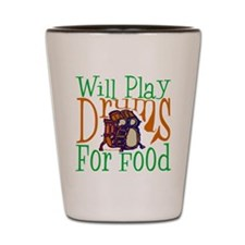 Will Play Drums Shot Glass