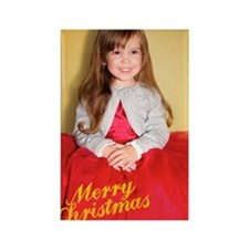 Bianca Christmas Card 2 Rectangle Magnet