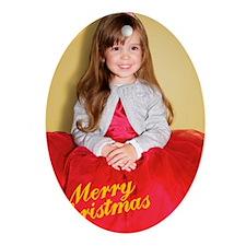 Bianca Christmas Card 2 Oval Ornament