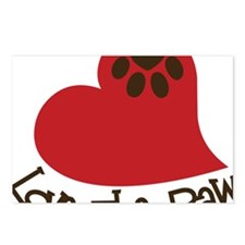 Love The Paw Postcards (Package of 8)