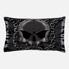 Brass knuckles skull 4 Pillow Case