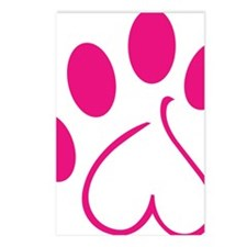 Dog Paw Postcards (Package of 8)