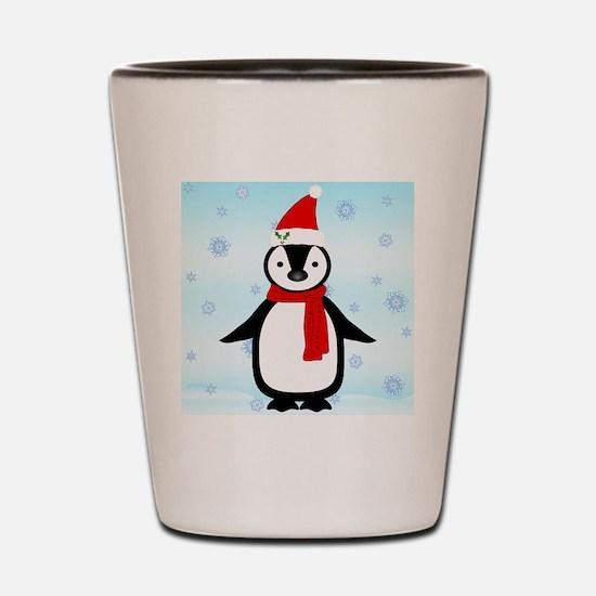 Christmas Penguin Shot Glass